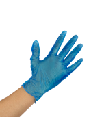 Karat Vinyl Powder-Free Gloves (Blue) - Large - 400 ct