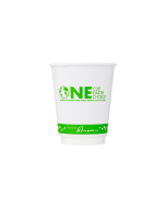 Karat Earth 8 oz. Eco-Friendly Insulated Paper Hot Cups - One Cup, One Earth - 80mm - 500 ct