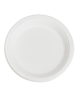 Karat Earth 9'' PFAS Free Compostable Bagasse Round Plates - 500 ct