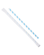 """Karat Earth 9"""" Giant Paper Straw Wrapped - Blue/White (1,200 ct)"""