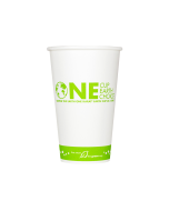 Karat Earth 16oz Eco-Friendly Paper Hot Cups - One Cup, One Earth (90mm) - 1,000 ct, KE-K516
