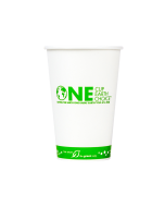 Karat Earth 16oz Eco-Friendly Paper Cold Cups - One Cup, One Earth - 90mm - 1,000 ct, KE-KCP16