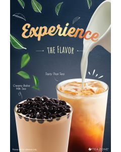 "Tea Zone ""Boba Milk Tea & Thai Tea"" Poster"