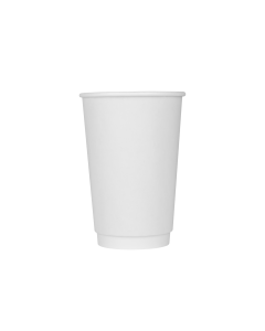 Karat 16oz Insulated Paper Hot Cups - White (90mm) - 500 ct