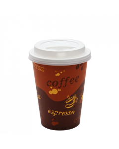 Karat 12oz Generic Paper Hot Cups and White Sipper Dome Lids (90mm)