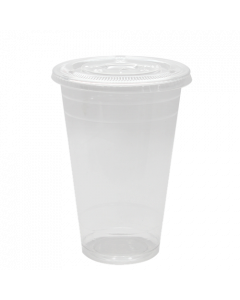 Karat 20oz PET Cold Cups and PET Flat Lids (98mm)
