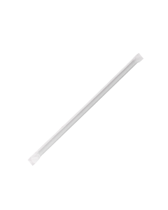 Karat 10.25'' Giant Straws (8mm) Paper Wrapped - Black - 1,200 ct, C9125 (Black)