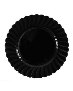 "Karat 10.25"" PS Scalloped Plate - Black - 120 pcs/ctn, CS-PS10B"