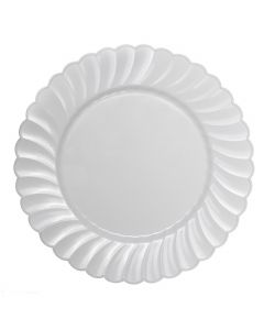 "Karat 10.25"" PS Scalloped Plate - White - 120 ct, CS-PS10W"