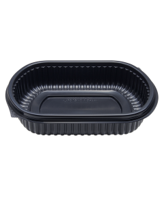 Karat 24oz PP Microwaveable Black Take Out Box - 300 ct