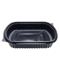 Karat 36oz PP Microwaveable Black Take Out Box - 300 ct