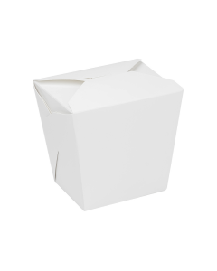 Karat 32oz Food Pail / Paper Take-out Container - White - 450 ct, FP-FP32W