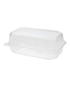 """Karat 9"""" x 5"""" PET Hinged Containers - 250 ct"""