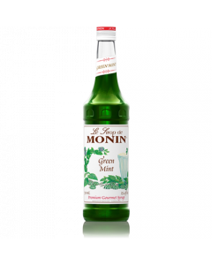 Monin Green Mint Syrup (750mL), H-Mint, Green
