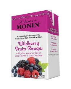Monin Wildberry Fruit Smoothie Mix (46oz), H-Smoothie, Wildberry