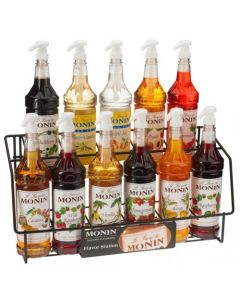Monin Syrup Wire Rack (11 Bottles), H-WireRack11