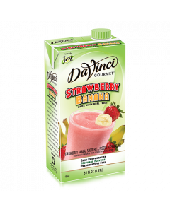 DaVinci Strawberry Banana Fruit Smoothie Mix (64oz) - Formerly Jet, K-Jet (Strawberry Banana)