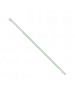 "Karat Earth 10.25"" Giant PLA Straws (7mm) Paper Wrapped - Clear - 1,200 ct, KE-C9235"