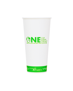 Karat Earth 22oz Eco-Friendly Paper Cold Cups - One Cup, One Earth - 90mm - 1,000 ct, KE-KCP22