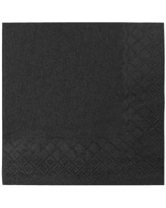 "Karat 9.5""x9.5"" Beverage Napkins - Black - 1,000 ct"