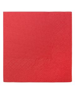 "Karat 9.5""x9.5"" Beverage Napkins - Red- 1,000 ct"