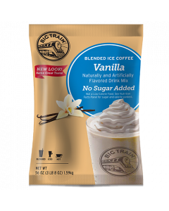 Big Train Vanilla Latte No Sugar Added Blended Ice Coffee Mix (3.5 lbs), P6025