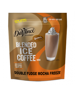 DaVinci Double Fudge Mocha Freeze Blended Ice Coffee Mix (3 lbs) - Formerly Caffe D'Amore