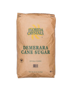 Florida Crystals Wholesome Demerara Raw Cane Sugar - 50 lb