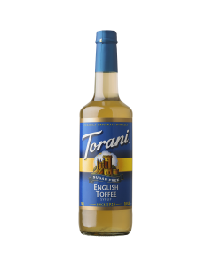 Torani Sugar Free English Toffee Syrup(750 mL), G-English Toffee-sf