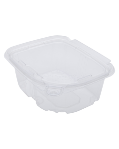 Karat 16oz PET Tamper Resistant Hinged Deli Container with Lid - 200 ct