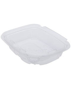Karat 8oz PET Tamper Resistant Hinged Deli Container with Lid - 200 ct