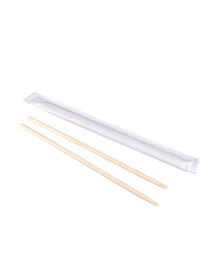 "Karat 9"" Paper Wrapped Bamboo Chopsticks - White, U9050"